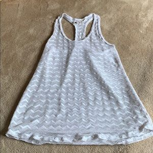 white roxy cover up